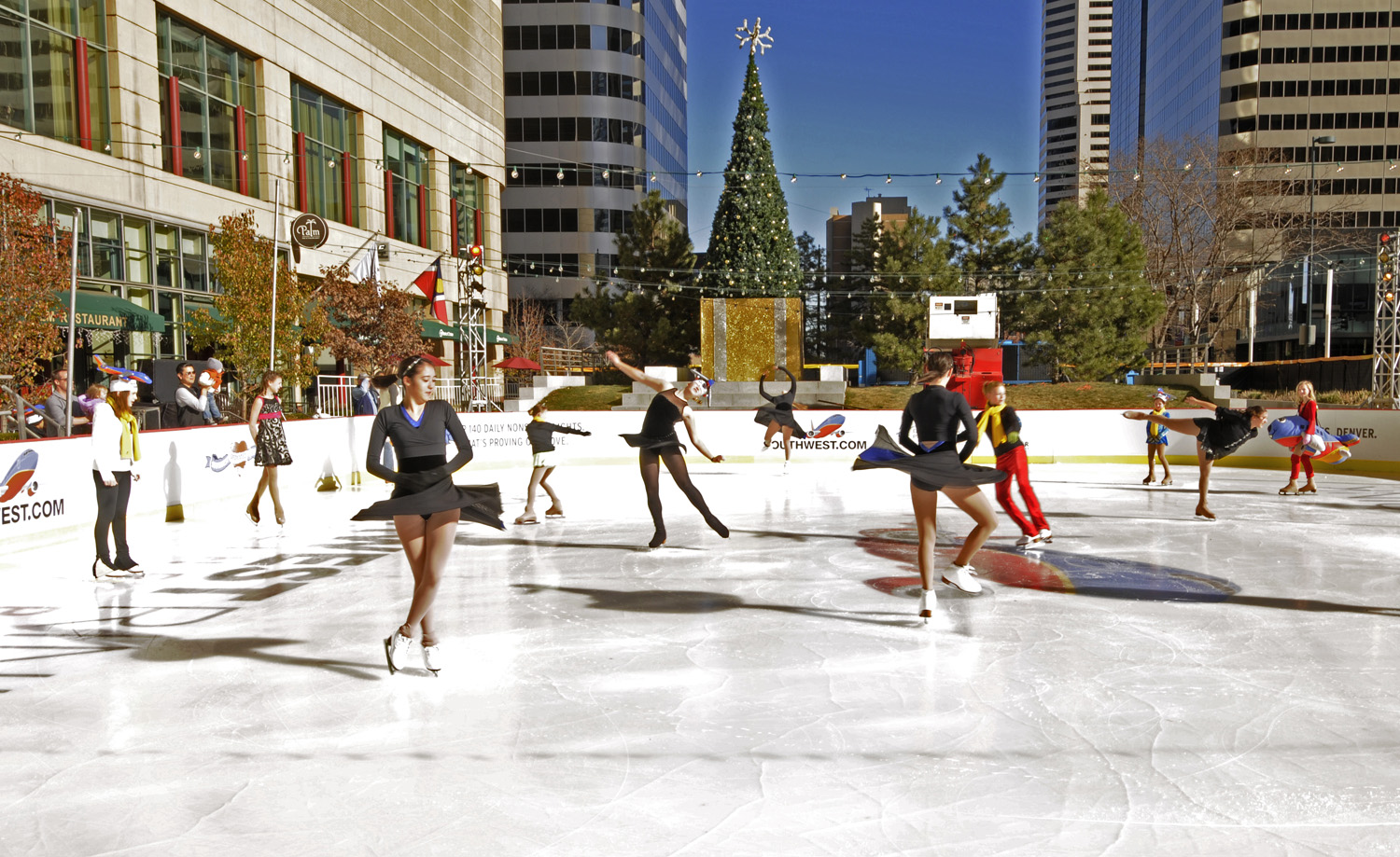the rink at belmar will celebrate winter solstice with an oversize ice castle skating live music and pre holiday treats on dec