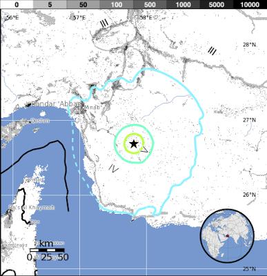 Epicentro sismos Iran 18 de Mayo 2013