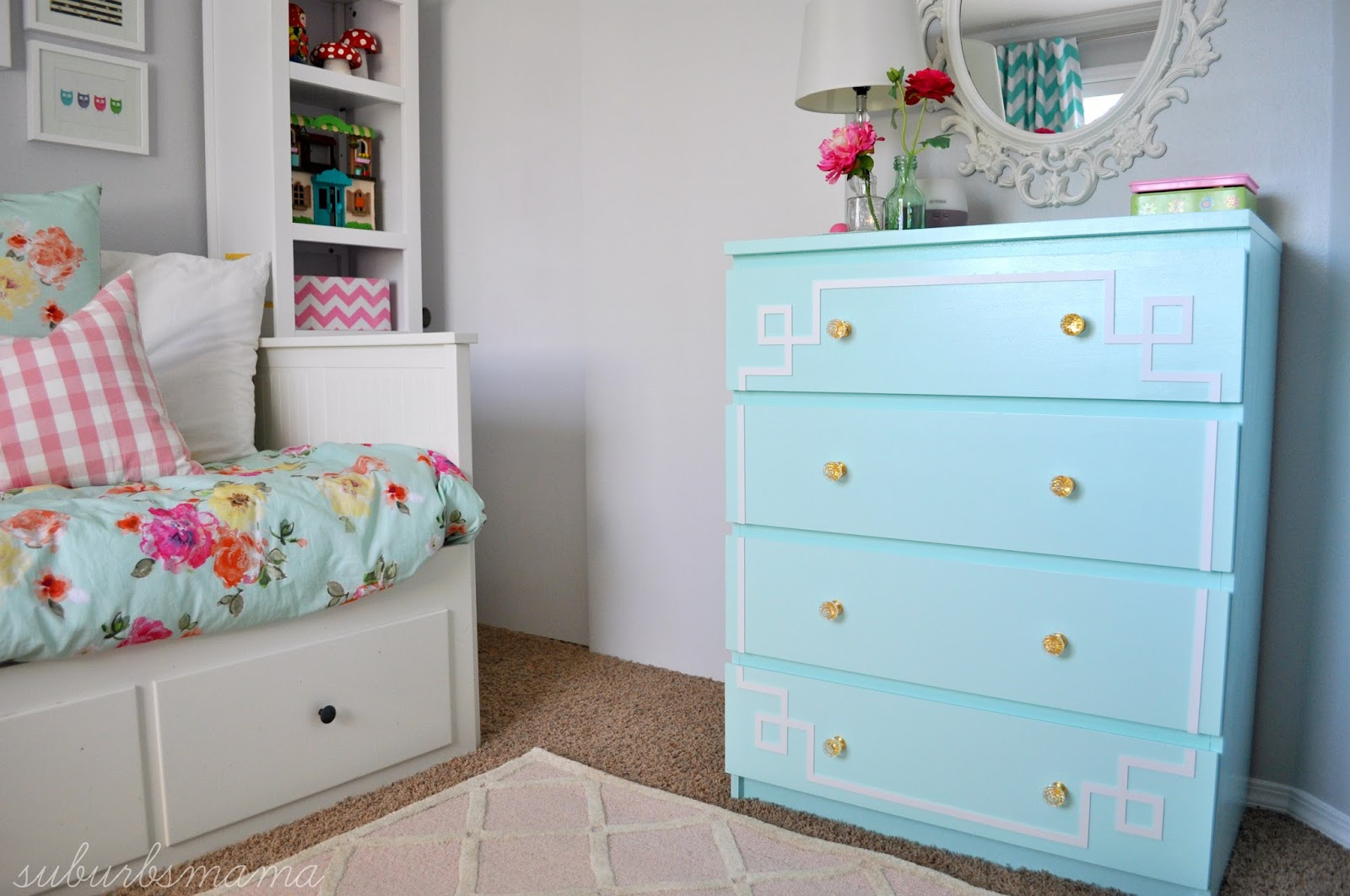 suburbs mama: ikea malm dresser hack (before and after)
