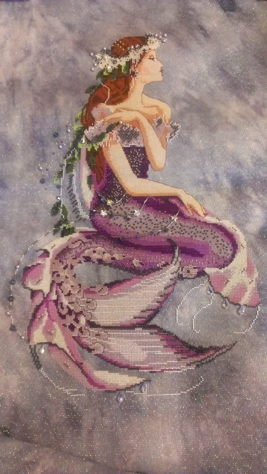 Stitching under the sea enchanted mermaid purple silk conversion enchanted mermaid purple silk conversion nvjuhfo Image collections