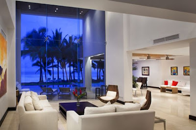 sala elegante y glamorosa