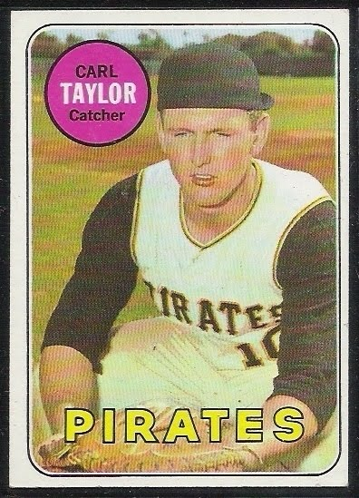 Carl Taylor 1969 baseball card