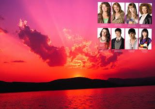 Fundo de tela dos Morangos com Açucar Jovens Atores em Wallpaper Pôr do Sol e Noites