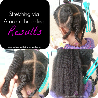 Stretching Hair via African Threading