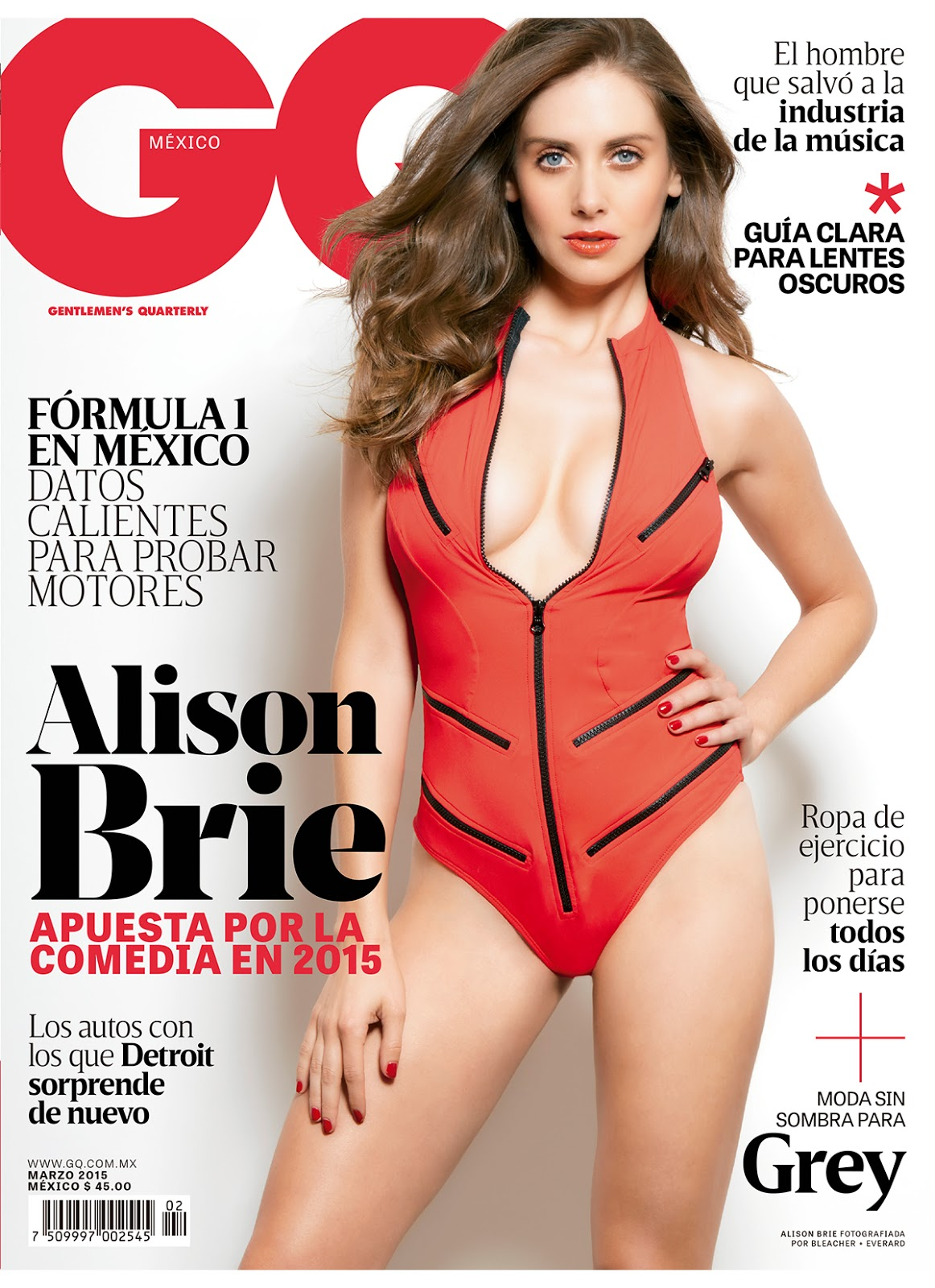 Actress @ Alison Brie - GQ Mexico March 2015 issue