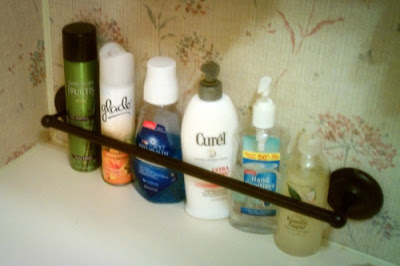 11 Ways to Organized with Towel Rods -- in an RV :: OrganizingMadeFun.com