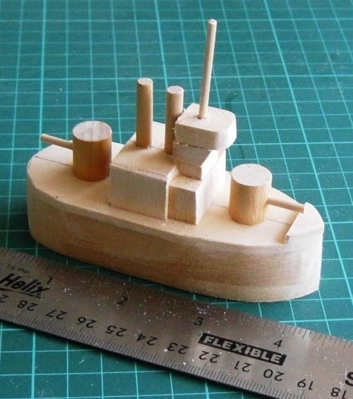 Wargaming Miscellany: Building the \'Monopoly\'-inspired model battleship