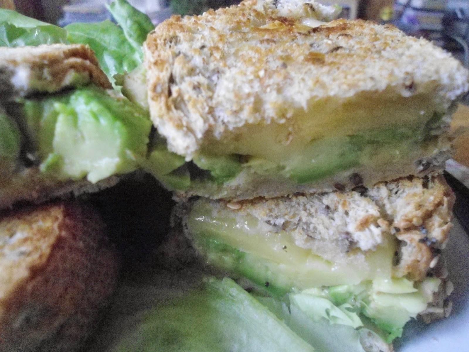 Kaltbach and avocado toasted sandwich