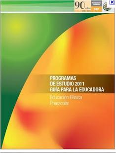 PROGRAMA PREESCOLAR 2011