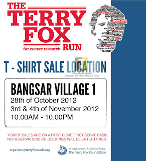 Terry Fox Run 4 Cancer Research T-Shirt Sale