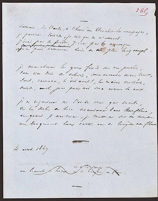 Manuscrit del poema «Demain, dès l'aube...» de Victor Hugo