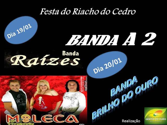 Confira a programação da festa do Padroeiro São Sebastião em Riacho de Cedro ano 2013:
