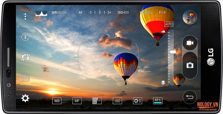 Giao diện chụp hình trên LG G4 Docomo