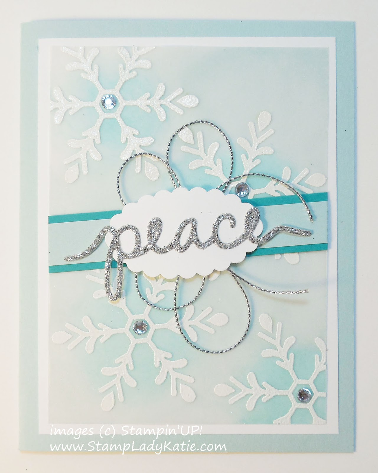 Stampladykatie Christmas Greeting Thinlet Over Embossed And