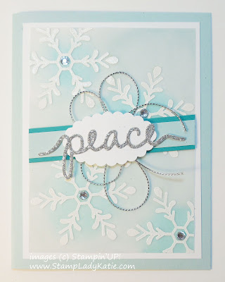 Card made with Stampin'UP!'s Holly Jolly Greetings Stamp set and Christmas Greetings Thinlit Dies