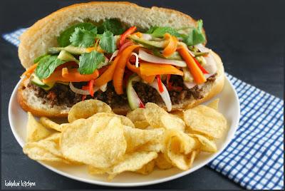 (meat free) bánh mì sandwich (aka nigel slater's 'sour, hot, crisp, soft. a sandwich for the senses')