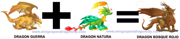 como sacar el dragon bosque rojo en dragon city combinacion 1