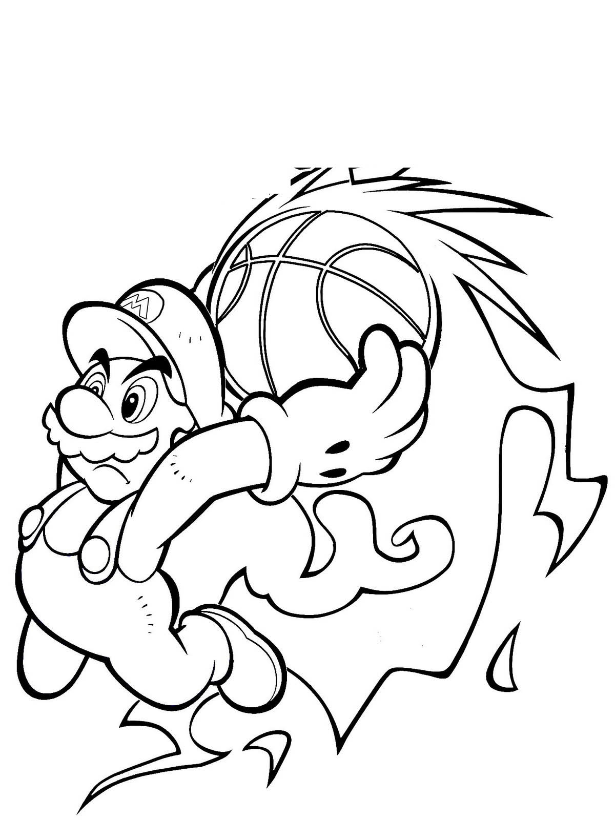 Fashion Magazine Mario Bros Coloring Pages