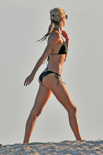 Lauren Stoner in Perfects Black Bikini Body at Miami