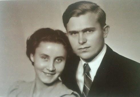 Alojzy Józekowski z żoną Danutą 1948