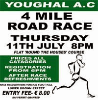 4 mile race on the streets of Youghal in E Cork