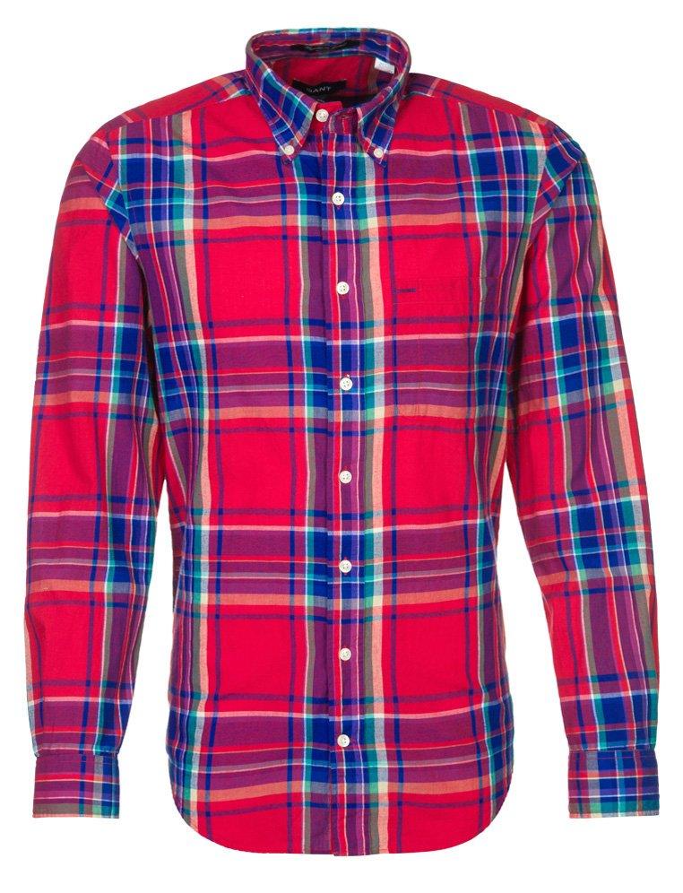 Camisa estampada en cuadros tartan de Gant