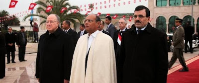 14 janvier - Brève cérémonie officielle à la Kasbah
