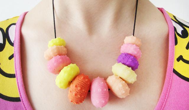 necklace, resin, sea urchin, serena kuhl
