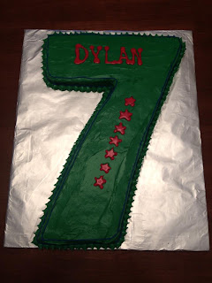 boy birthday cake 7 green