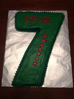 boy birthday cake 7 green