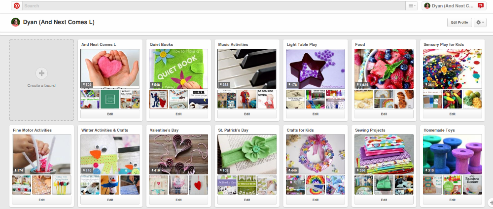 Pinterest tips for bloggers: arrange your boards from And Next Comes L