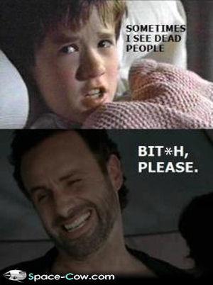 Walking Dead Vs. The Sixth Sense
