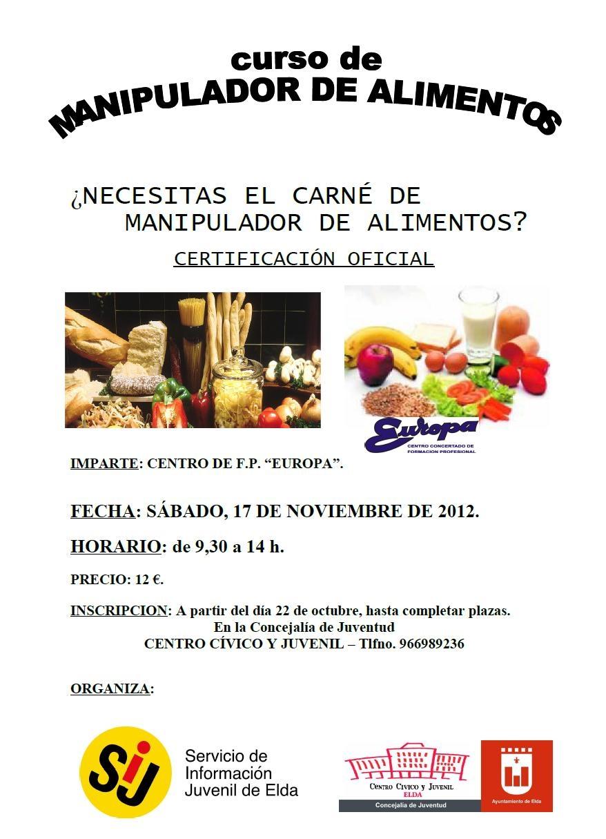 Carnet de manipulador de alimentos y curso de share the knownledge - Curso de manipuladora de alimentos gratis ...