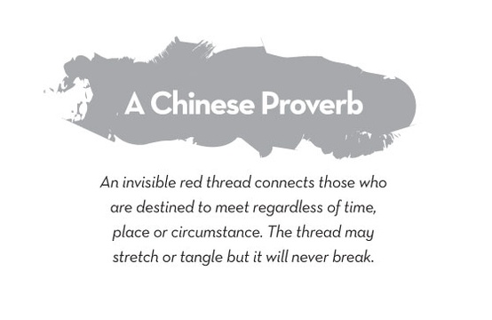 a chinese proverb an invisible red thread connects those