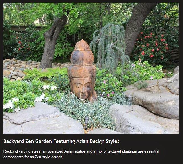 zen garden with kwan yin statuary decorating ideas - the crabby nook