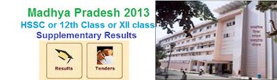 MP Class 12 Supplementary Results 2013