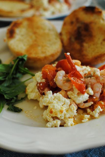 recept, lchf, räkor, tomat, ugn, fetaost