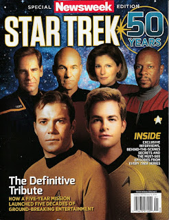 Front cover of Special Newsweek Edition: Star Trek 50th Anniversary Tribute magazine