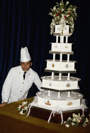 Prince William and Kate Middleton 39s amazing 8 tier Royal Wedding Cake