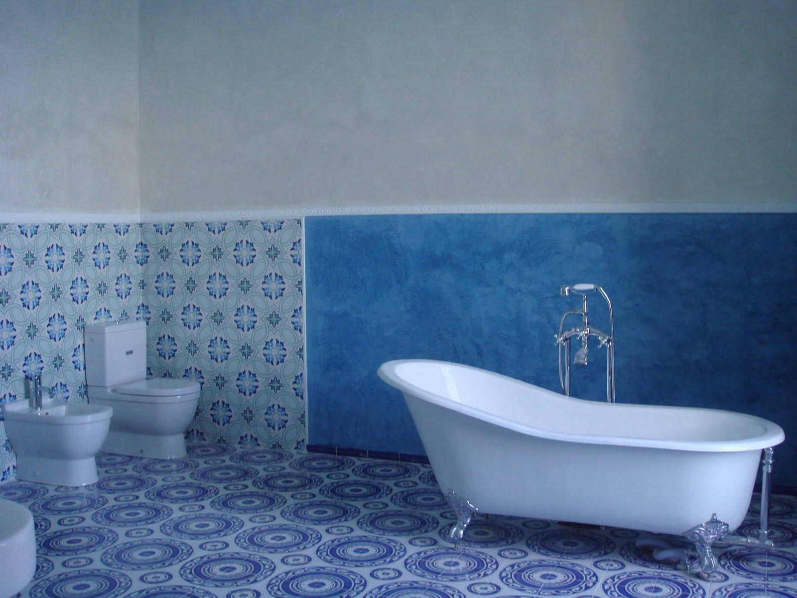 Blue grey bathroom viewing gallery