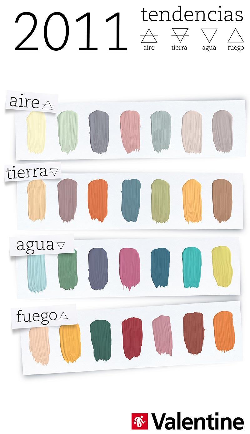Tierra aire agua y fuego las nuevas tendencias de - Catalogos de colores de pinturas para interiores ...