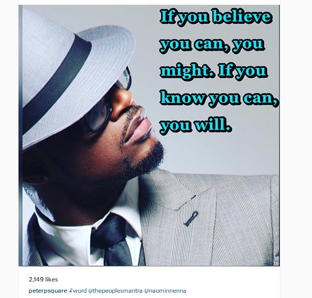 Check Out These Golden Words Of Advice From Psquare's Peter Okoye