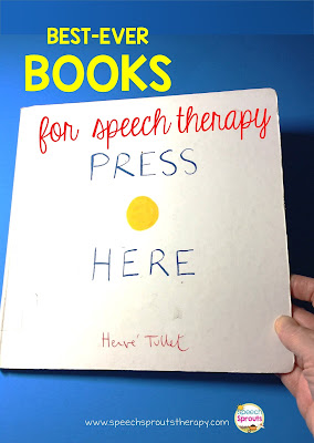 Best-Ever Books for Speech Therapy- Press Here www.speechsproutstherapy.com