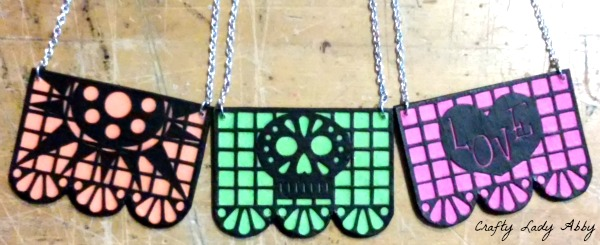 Holiday Diy Papel Picado Necklaces