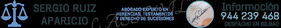 Abogado Herencias Bilbao · 944 239 468 · Sergio Ruiz Aparicio