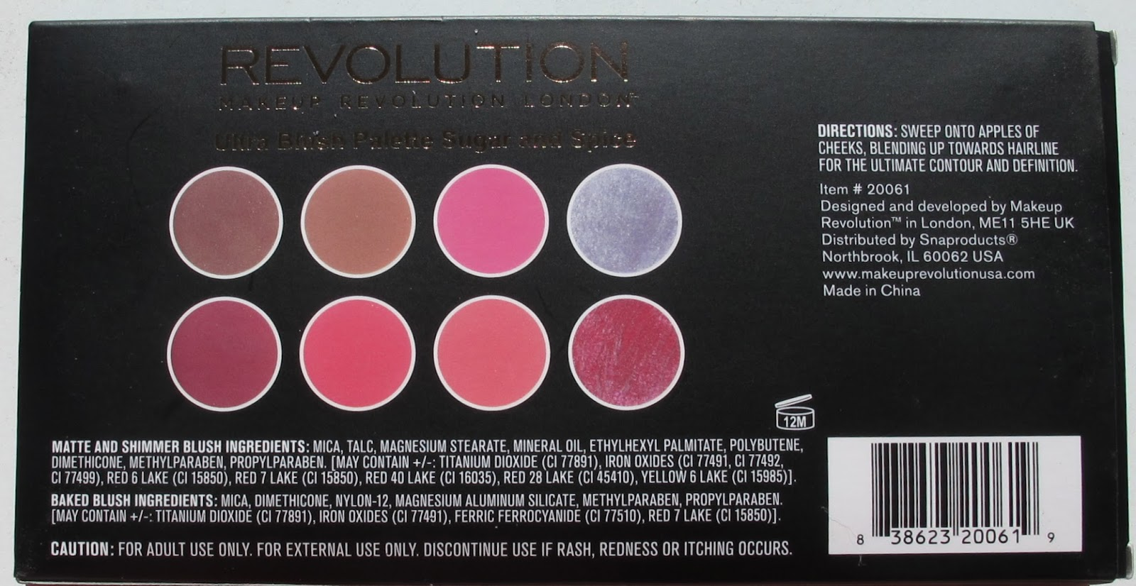Lvmakeup Makeup Revolution Blush Palette In Sugar And Spice Review Make Up The Blushes Have No Individual Color Names