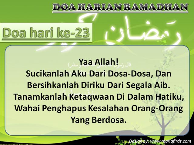 Doa Hari Ke-23