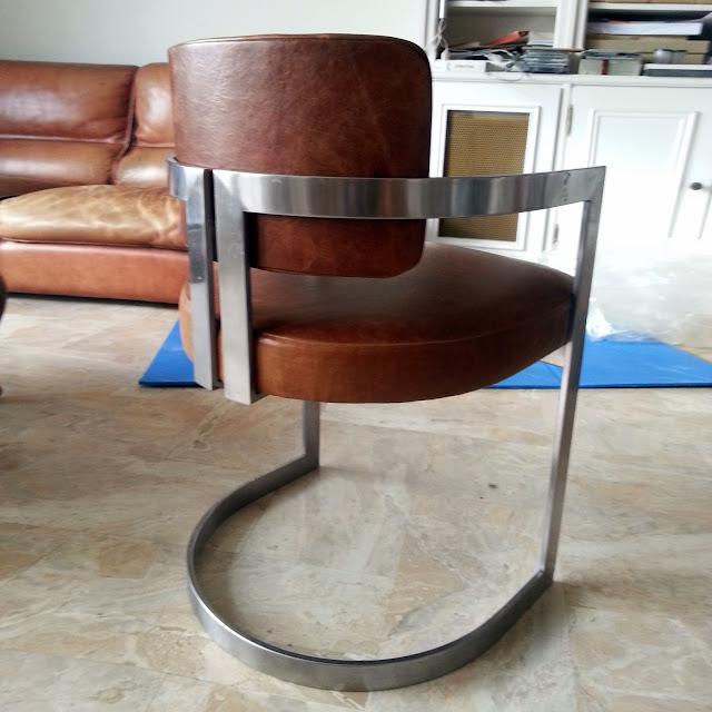 Avant apr s fauteuil bureau vintage atelier velvet artisan tapissier paris 10e - Fauteuil de bureau knoll ...