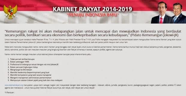 Kabinet Rakyat presiden Jokowi 2014-2019