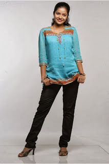 Swathi in Modern Churidar Dress